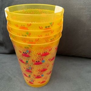 Other - Set of 5 reusable crab themed cup